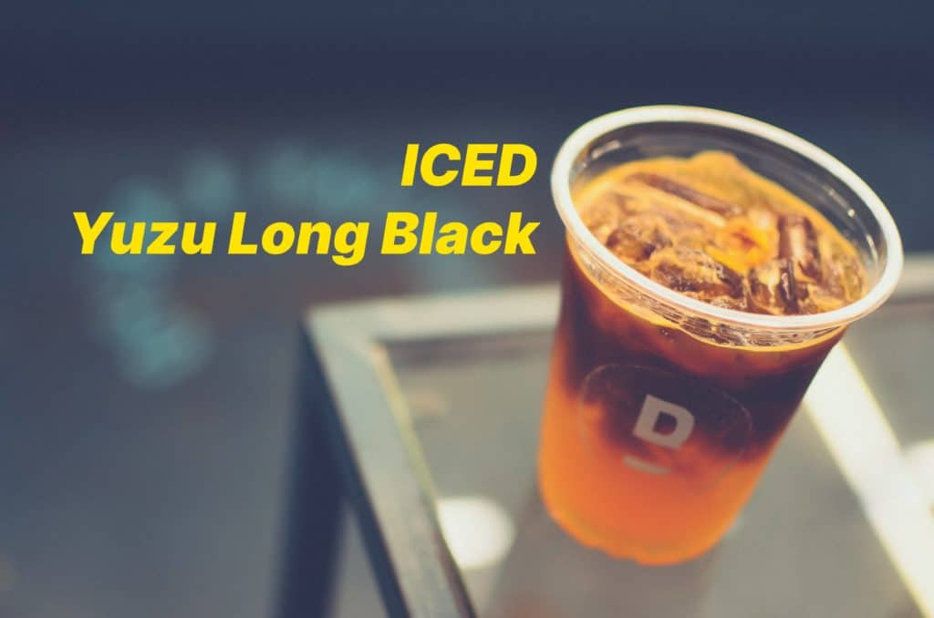 behind the bar Yuzu long black