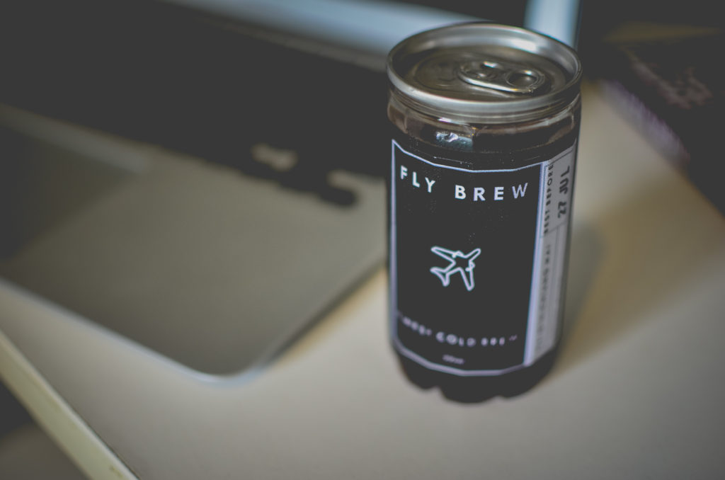 Fly brew cold brew on table